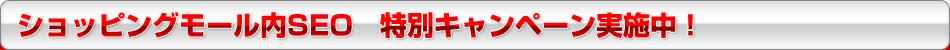 ショッピングモール内SEO 特別キャンペーン実施中!